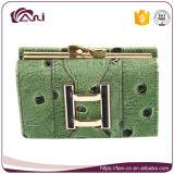 La nueva llegada niñas pequeñas monedero / cartera de mano de piel de avestruz bolso de cuero de la PU