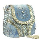 shoulder Messenger Bag Tassel 형식 모조 다이아몬드 Demin 디자이너 여자 숙녀 핸드백