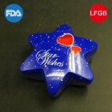 Contenitore astuto di stagno di Hexagram/contenitore di regalo blu di amore (HS001-V1)