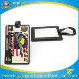 Hersteller kundenspezifischer Entwurfs-Firmenzeichen-Plastik/weich Belüftung-Gepäck-Marke für Namensbeutel-Halter (XF-LT04)