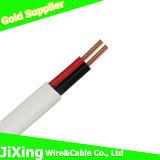 Elektrisch/ElektroKoper 2core/Twin van pvc en de Kabel van de Draad van de Aarde