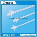 Material plástico Nylon 66 Zip Ties Mountable Head Ties