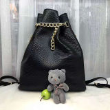 Sacchetto di cuoio della signora spalla della borsa della benna di acquisto di alta qualità con gli accessori Emg5153 dell'orso