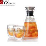 普及した高いホウケイ酸塩の耐熱性明確なガラスティーポットまたはガラス冷たい醸造物のコーヒーメーカーまたは冷水のガラス瓶の水差しの水差し水やかん