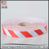 赤く白く明白なレトロの反射広がるテープステッカー