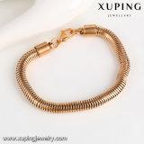 74678 Form-einfaches Messingschmucksache-Schlange-Armband im Gold 18k überzogen