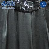 Черное сексуальное шелковистое безрукавный свободное платье партии повелительниц с