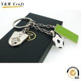 Förderndes Großhandelsgeschenk-preiswerte kundenspezifische Metallmarkierungsfahne Keychain