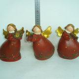 Atacado Lovely Garden Ornaments Figuras de anjo de resina para casa
