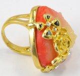 Anillo de la piedra del oro del acero inoxidable de la joyería de la manera 2016