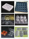 Bandejas triples automáticas de alta velocidad del shell de la almeja del empaquetado plástico/del shell de la almeja/paquetes comunes del shell/de ampolla de la almeja que forman la máquina