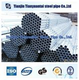 Os materiais de construção galvanizaram em volta da tubulação de aço galvanizada /Pre de aço de tubulação