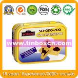 Rechteckiger Schokoladen-Zinn-Kasten, Schokoladen-Kasten, Nahrungsmittelzinn