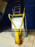O Wheelbarrow contínuo forte da roda do plutônio com galvaniza a bandeja