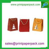 Impressão de cor de carimbo quente Kraft personalizado/saco revestido do cosmético do saco do presente do saco de papel