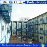 Casa pré-fabricada modular elegante do bloco liso do projeto do edifício da construção de aço com preço barato