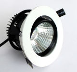 Redondo embutir la MAZORCA ajustable rotativa LED Downlighting de Dimmable 12W del techo