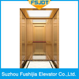 Ascenseur à la maison de Fushijia avec la décoration titanique d'acier inoxydable d'or