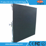 P3 pantalla de visualización flexible de interior del alquiler HD LED para el fondo de etapa, conferencia, acontecimientos (el panel negro de SMD2121 LED)