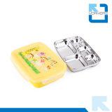 Kleurrijke Lunchbox & het Dienblad van het Snelle Voedsel van het Roestvrij staal met Verdelers