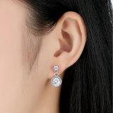 2016 boucles d'oreille en pierre blanches rondes de goujon de mode