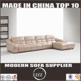 L à la mode moderne divan de cuir véritable de forme