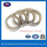Rondelle à ressort de double blocage latéral de moletage de l'acier inoxydable DIN9250