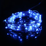 Dimmable 5m 50LED Blanco Centelleo Navidad Flexible USB Cobre Wire String Luces