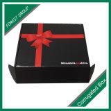 Boîte en carton d'impression de couleur rouge