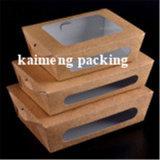 음식 급료 Kraft 포장 처분할 수 있는 서류상 콘테이너 상자 (서류상 콘테이너 상자)