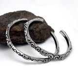 زوج صفحة أساور [تيتنيوم] فولاذ نمط مجوهرات صليب أسلوب