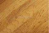La couleur jaune multiplient le plancher en bois conçu par hickory/plancher de bois dur