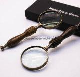 Magnifier tenuto in mano ad alto livello del metallo del regalo della maniglia dell'ebano retro retro