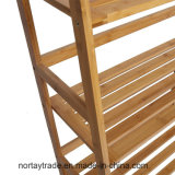 La multa plegable el estante de bambú 4-Shelf escaliforme para el uso diario