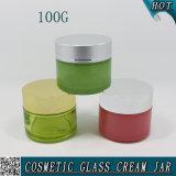 100ml de lege Kruik van het Glas van het Masker van de Schoonheidsmiddelen van de Cilinder Gezichts100g
