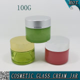 100ml esvaziam o frasco de vidro 100g da máscara facial dos cosméticos do cilindro