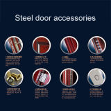 Neue Entwurfs-heiße Verkaufs-hölzerne Korn-Farben-Stahlsicherheits-Einstiegstür