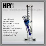 """Hfy heißes Verkäufe Glasilladelph 10 """" rauchende gemeinsame Glaspfeife der Wasser-Rohr-gerades Gefäß-Rohr-unbesonnene Huka-14.4mm"""