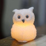 装飾またはクリスマスのためのフクロウ整形Flameless LEDの蝋燭ライト電子蝋燭