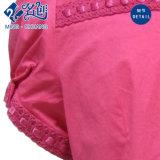 Camicetta delle donne di modo del merletto del cotone del Breve-Manicotto del tasto della pesca