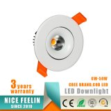 techo ahuecado MAZORCA LED Downlight del CREE 6W