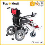 Topmedi behinderte leichte faltbare Energien-elektrischer Rollstuhl-Aluminiumpreise