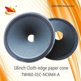 El Cono-Altavoz del papel del Paño-Borde de la pieza del altavoz del PA de la alta calidad 18inch parte el cono