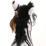 Jouet de zèbre de peluche bourré petit par animal de jungle de la CE ISO9001