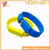 Hot Sale Silicone 8GB USB Silicone Wristband pour