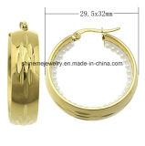Pendiente del oro del laminado del acero inoxidable de la alta calidad de la joyería de Shineme (ERS6973)