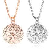Collana lunga Pendant in lega di zinco della collana di angelo di guardiano del metallo