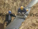 PE/PPの二重壁の螺線形の波形の管