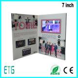 新しいデザイン7inch LCDスクリーンのビジネスのためのビデオ挨拶状
