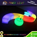 로비 가구 RGB LED에 의하여 점화되는 플라스틱 커피용 탁자